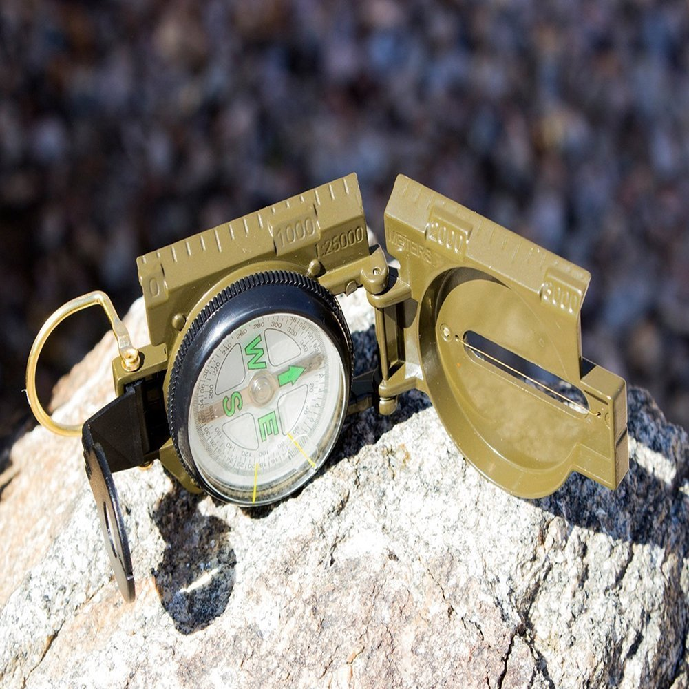 Compass Camping Military Army Hiking Lens Lensatic Mini Metal Pocket AT-COMPASS3
