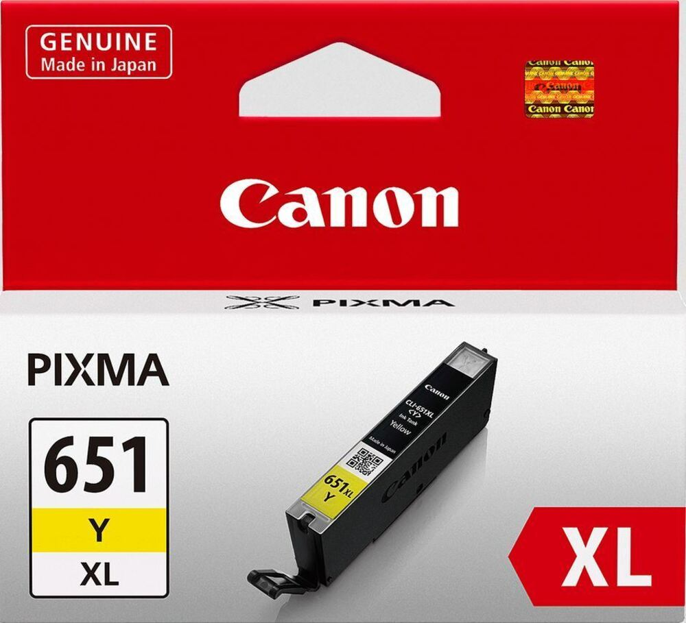 CANON CLi651XLY Yellow High Capacity Ink Cartridge,  XL Size