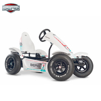 BERG Race BFR Four Wheels Pedal Go-Kart with BFR-HUB Ride-On Toy Race Car with Adjustable seat Slick Tires for 5+ Kids Swing Axle Front Spoiler