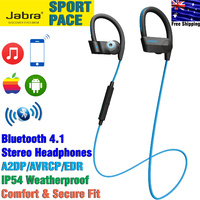 Jabra Sport Pace Bluetooth Wireless Sports Earbuds Weatherproof Headset, Blue