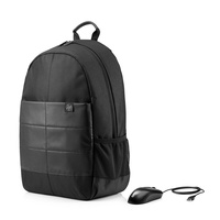 "HP 15.6"""""""" Classic Backpack and HP USB Mouse 1000DPI, black"