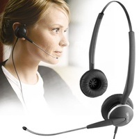 Jabra GN2100 Telecoil Duo Corded Noise Cancelling Stereo Headset for Deskphone, Flexible microphone boom