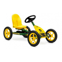 BERG Buddy John Deere Four-Wheel Go-Kart Ride-On Toy Car for 5+ years Kids with BFR-HUB Adjustable Steering columns Swing Axle Pneumatic Wheels