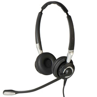 Jabra Biz 2400 II QD DUO Ultra NC Corded Headset for Deskphone with Noise Canceling, HDVoice & PeakStop function