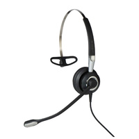 Jabra BIZ 2400 II USB Mono BT MS Corded Headset with Noise-Cancelling Microphone and HD VOICE + HIFI SOUND