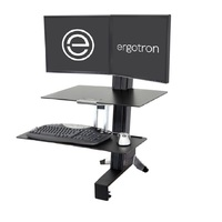 Ergotron 33-349-200 WorkFit-S Dual Monitor with Worksurface