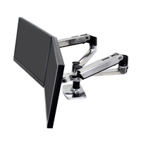 "Dual Monitor Arm For 2 up to 27 "" Desk Mount Side by Side LX Ergotron 45-245-026"
