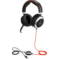 Jabra Evolve 80 MS Stereo Headset Hi-Fi with Active Noise Cancellation works with all smart devices optimized