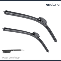 "Aero Wiper Blades for Mazda 6 GL 2016 2017 2018 Front Pair 24"" + 18"" Windscreen"