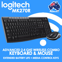Keyboard and Mouse Combo Wireless PC Notebook Optical Mini MK270R Logitech 920-006314