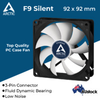 Arctic Cooling Low Noise Case Silent Fan AC-F9-S 92mm 3-Pin Fluid Bearing Quiet