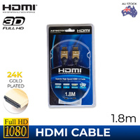 Astrotek 1.8m HDMI 28AWG Cable - V1.4, Male-to-Male Gold Plated Connectors, HDTV, 3D Ready (Retail Box)
