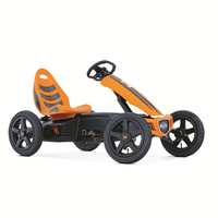 Berg Rally Four-Wheel Go-Kart, Ride-On Toy Car for 5+ years Kids, with BFR-HUB, Adjustable Seat and steering columns, Swing Axle, Slick Tyres, Orange