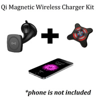 Kome C102 QI Magnetic Wireless Car Charger + Kome QI Magnetic Patch - Sticker/Holder for Smartphones