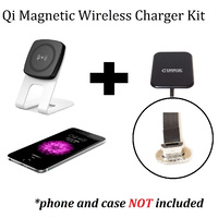Kome C301 QI Magnetic Wireless Desk Charger + Kome B106 Qi Wireless Receiver Module for Android Phones Micro USB