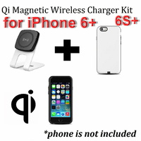 Kome C301 QI Magnetic Wireless Desk Charger + Kome Qi Wireless Case Cover Lightning Connector for iPhone 6+ & 6S+