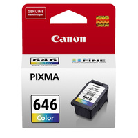 Canon CL-646 Clour Ink Cartridge, Tri-Colour for Canon PIXMA InkJet Printers, Genuine