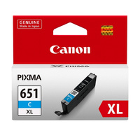 CANON CLi651XLC Cyan Ink Cartridge