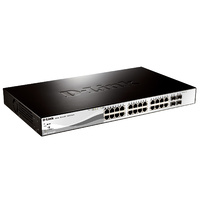 D-Link DGS-1210-28 28-Port (24 UTP, 4 SFP) Gigabit Smart Manageable Switch with 4 Gigabit SFP Ports