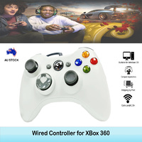 For Xbox 360 Wired Controller Gamepad Console Game Joypad Games White 2.5m Cable