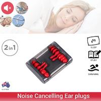 2 Pairs Ear Plugs Sleep Noise Cancelling Silicone protector Earplugs Soft Study