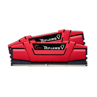 G.SKILL RIPJAWS V 16GB DDR4 3000MHz PC4-24000 Dual Channel Memory Kit 8GBx2 Intel Z170 Compatible 15-15-15-35 Non-Ecc Aluminum Heat Spreader Red