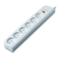 Belkin Economy 6 AU Outlet 250V AC, 10A, Surge Protector with 2M Power Cable, White