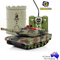 Leopard II German Radio Control IR Infrared Battle Tank with Tower Model, HuanQi 550 R/C Toy Kit  with Vital Force Indicator