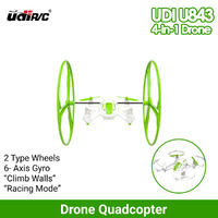 Drone Quadcopter Mini R/C 4-in-1 UDI U843 R/C Multi Skywalker 4-Axis Gyro GREEN