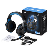 3.5mm Gaming Headset MIC Led Headphones Surround Wired Stereo PC Pro Game G2000
