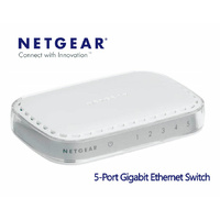 Network Switch 5-Port Netgear GS605AU 10/100/1000 Gigabit Desktop