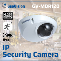 GeoVision GV-MDR120 1.3MP H.264 Low Lux Mini Fixed Rugged Dome Camera