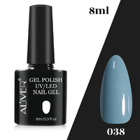 Aliver Color Gel Nail Polish Art Lacquer Manicure No Wipe Top Base Coat 8ml UV