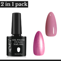 Aliver 2x Gel Nail Polish Manicure Top Base Coat No Wipe Lacquer Art Color