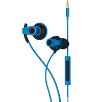 Blueant Pump Boost Headset - Wired HD Audio Sportbuds, Blue