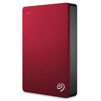 "Seagate 4TB Backup Plus 2.5"""""""" Portable USB 3.0 Hard Drive, 5400RPM, Red"