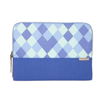 "STM Grace 13"" soft sleeve for MacBook, Ultrabook or other similarly sized laptops, blue diamonds"