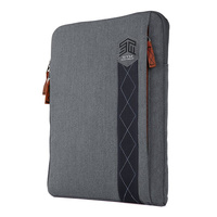 "STM Ridge Sleeve for 11"" Laptop or ultrabooks soft zipper laptop case tornado grey"