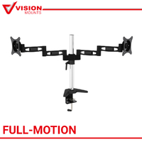 "Dual Monitor TV Mount Stand 2x Arm up to 27"" 8KG each Bracket Vision Mounts VM-D23"
