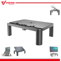 Monitor Laptop Stand Riser Desk Height Adjustable Computer Shelf Table Notebook