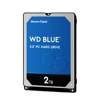 "Hard Drive 2TB 2.5"" SATA 128 MB Cache PC WD Blue Western Digital WD20SPZX"