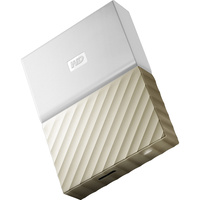 WD 2TB My Passport USB 3.0 Secure Portable Hard Drive (Gold) WDBTLG0020BGD-WESN